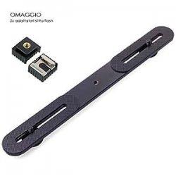 Staffa porta flash e accessori professionale - in OMAGGIO 2x adattatori rapidi slitta flash - flash bracket sectorcam(R)