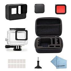Rhodesy 18 in 1 Custodia Protettiva Impermeabile Pacco Accessori per GoPro Hero 6 Hero 5 Action Camera