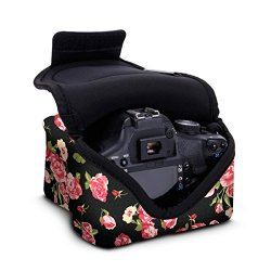 USA Gear Neoprene Custodia Borsa per Fotocamera Digitale Reflex con Tasca per Accessori - Adatta a Canon EOS 1300D , 700D / Nikon D3300 / Pentax e alt