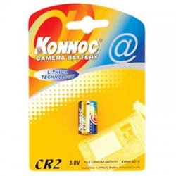 Konnoc Batteries Batterie al Litio per Fotocamere Batteria al Litio 3V CR2