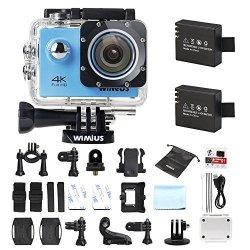 Wimius Action Camera 4K WIFI WebCamera Full HD 1080P 16MP Impermeabile Sport Camera 170 ° Grandangolare 2.0