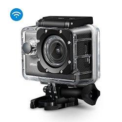 Topop Action Camera con WiFi e App Gratuita per Android e IOS, Videocamera 20MP e UHD Sport con 2,0 Pollici Display LCD, Videocamera Impermeabile con