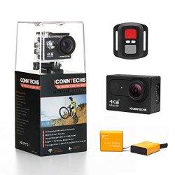 ICONNTECHS IT Action Camera 4K 12MP HD Action Cam per Casco Videocamera Subacquea wifi 170 Gradi Grandangolare Fotocamera Sportiva Impermeabile per Sn