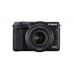 Canon EOS M3 Kit Fotocamera Mirrorless Digitale 24.2 Megapixel con Obiettivo EF-M 18-55 mm STM, Nero