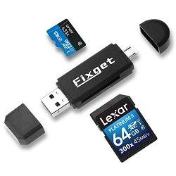 Fixget Lettore di Schede SD, Memoria SD/Micro SD...