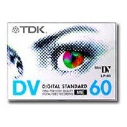 TDK DVM 60 Video cassette - Confezione da 5