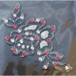 Macramé ALLCHIGNON glitter silver e strass...
