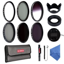 Beschoi 58MM Filter Kit (UV+CPL+ Filtro Grigio...