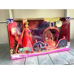MATTEL BARBIE CASTELLO DI DIAMANTI CARROZZA COACH...