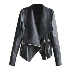Giacca Donna Inverno In Pelle Pu Vintage Moto...
