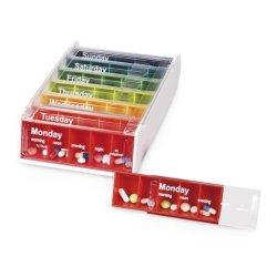 Anabox - Porta pillole settimanale, colori...