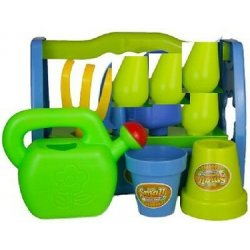 Kids Garden Play Set Toy Watering Can Spade Rake...