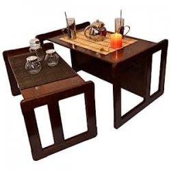 Duo Tavolini Da Caffè Multifunzionali 3 In...