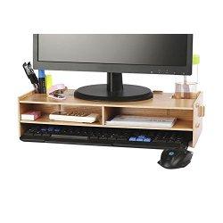 AZLife Supporto per monitor, legno naturale Fai...