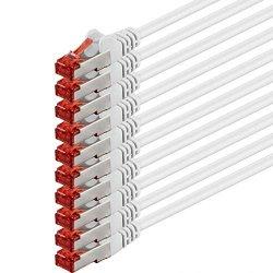 1m - bianco - 10 pezzi - Rete Cavi Cat6 | S-FTP |...