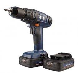 FERM CDM1114S Trapano senza Filo, 2 Batterie...