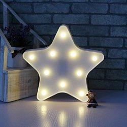 Luci notturne per bambini - 3D carino LED stella...