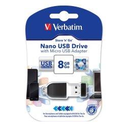 Verbatim Nano Chiavetta USB 8 GB, USB 2.0 con...