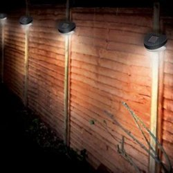 12 X SOLAR POWER POWERED DOOR FENCE WALL LIGHTS...