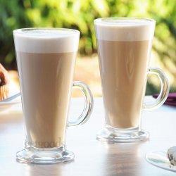 Set Of 4 Latte Glasses Tall 260ml Large Irish Tea...
