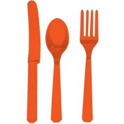 Premium posate gamma, Orange, 24 Pezzi
