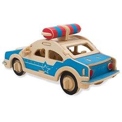 3D Puzzle di Legno Auto della Polizia , Woodcraft...