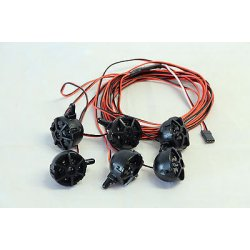 Led Lichtset 6x RC Car lampadine riflettore Fg...