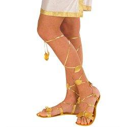 Sandali gladiatore da donna in oro anticato