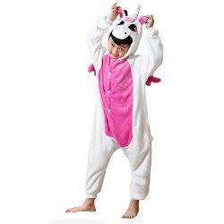 Pigiama costume intero animali unicorno flanella...