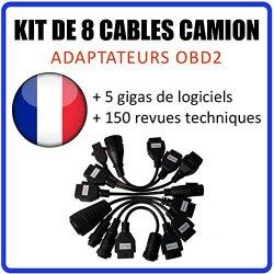 MISTER DIAGNOSTIC - Kit di 8 Cavi/adattatori per...