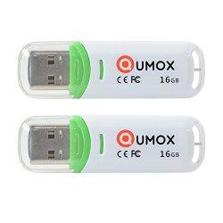 QUMOX 2x 16GB 16GB Pen Drive USB 2.0 Flash Stick...