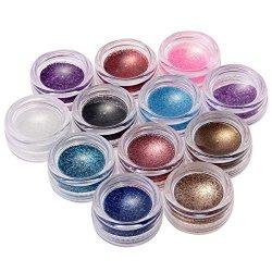 SODIAL(R) 12 Colori Polvere Acrilica Glitter Nail...