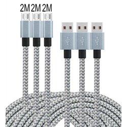 Leginda Cavo USB [3 pezzi] 2M 2.0 Nylon...