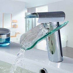 Auralum Elegante rubinetto in vetro per lavabo...