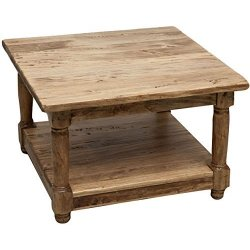 Tavolino da fumo Country in legno massello di...