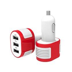Caricabatterie USB da Auto (4.1A - 3 Porte) con...
