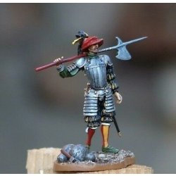 Toy lead soldier, German lance-knight,hand...