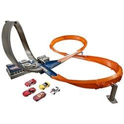 Hot Wheels - Pista da corsa 8 con 5 macchinine