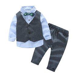 Vestito Completo Camicia con Papillon + Pantaloni...