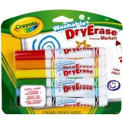 Crayola Colora 6 Pennarelli Per Lavagna Bianca...
