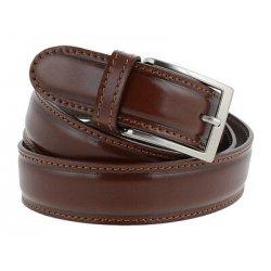 Cintura uomo in pelle classica marrone con...
