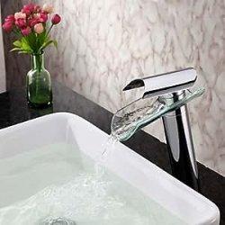 rubinetto lavabo bagno in vetro contemporaneo