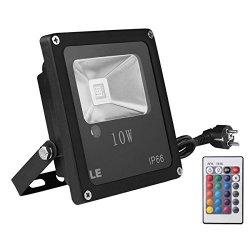LE Faretto RGB a LED da 10W con telecomando, Luce...