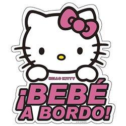 Hello Kitty KIT3010 Adesivo Vetro Bimbo A Bordo...