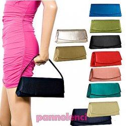 Borsa donna Pochette handbag raso baguette TANTI...