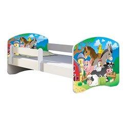 Letto per bambino Cameretta per bambino con materasso Cassetto ACMA II 08 La principessa con il pony, 140x70