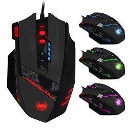 ZELOTES Mouse da gioco 12 Pulsanti Programmabili...
