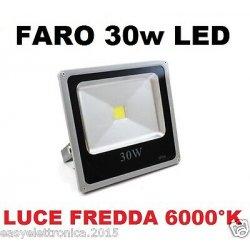 FARO FARETTO LED ULTRA-SLIM 30w IP66 LUCE FREDDA...