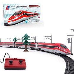 LE Toys LET13601 - Treno Frecciarossa, Rosso