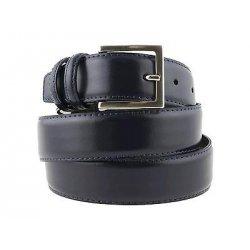 Cintura elegante pelle blu da uomo per cerimonia...
